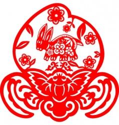 chinese new year rabbit vector image