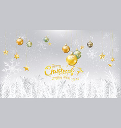 christmas and new year typography on white vector image