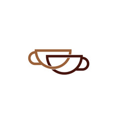 Connect coffee logo icon design vector