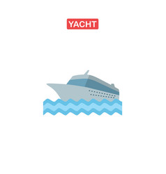 cruise ship logo yacht vector image