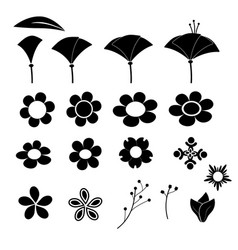 cute flower icon on white background vector image