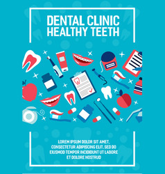 Dental health clinic poster vector