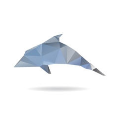 Dolphin abstract isolated on a white backgrounds vector