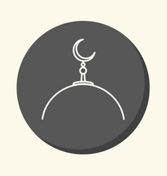 Dome of a muslim mosque with a crescent on a spire vector