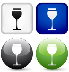 drink buttons vector image