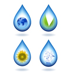 Drops of water content vector image