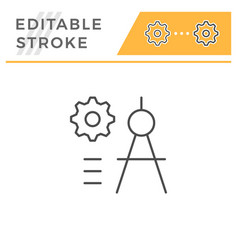 engineering line icon vector image