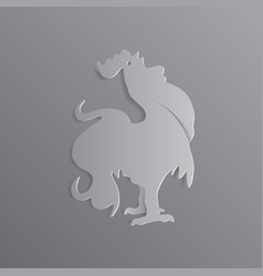 eps10symbol 2017 happy new year white rooster on vector image