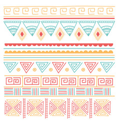 ethnic handmade tribal ornament style mosaic vector image