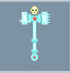 fantasy weapon battle hammer war hammer vector image