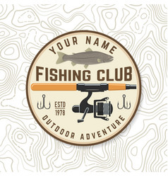 Fishing club patch concept for shirt vector