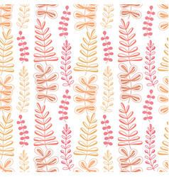 Floral seamless pattern spring background vector