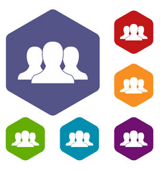 Group of people icons set vector