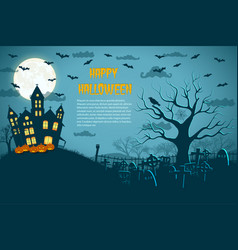halloween fantastic picture vector image
