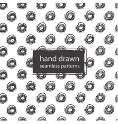 Hand drawn marker and ink seamless patterns vector