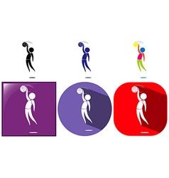 Handball icon in three icon designs vector image