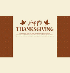 Happy thanksgiving day card background vector