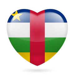 Heart icon of Central African Republic vector
