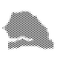 Hex tile senegal map vector