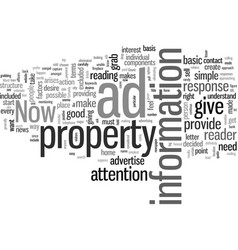 How to advertise for your property vector