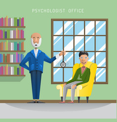 hypnosis session man vector image