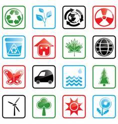 Icon set environment vector