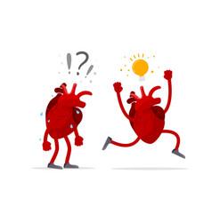 idea generation concept talent human heart organ vector image