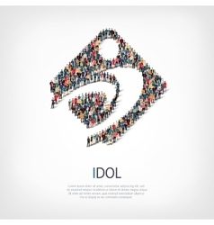 Idol people sign 3d vector