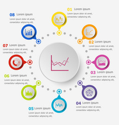 Infographic template with graph icons vector