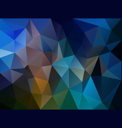 irregular polygon background dark blue vector image