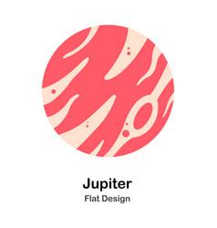 Jupiter flat vector