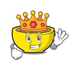 King soup union mascot cartoon vector