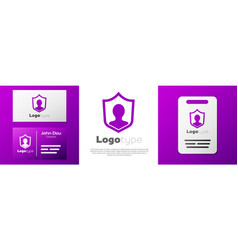 Logotype user protection icon isolated on white vector