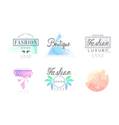 Luxury logo design templates collection fashion vector