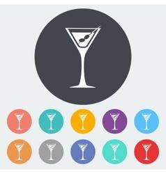 Martini single icon vector