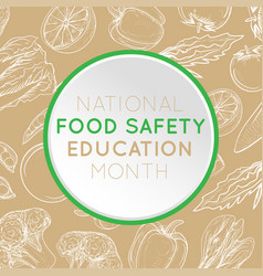 national food safety education month logo icon vector image