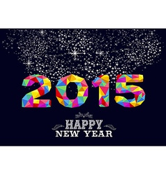 New year 2015 poster design vector image