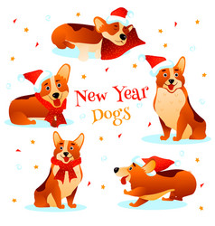 new year dogs vector image