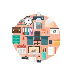 Office Flat vector image