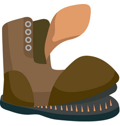 Old brown boot vector
