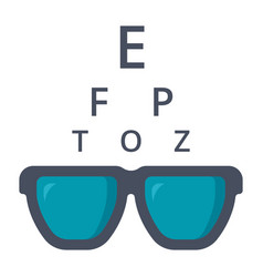 Optometry icon vector