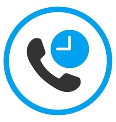 Phone Time Rounded Icon vector