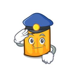 police rigatoni character cartoon style vector image