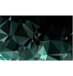 polygon green gradient background vector image