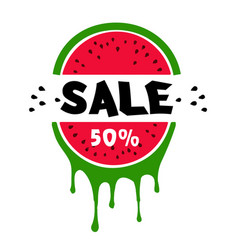 sale 50 watermelon white background image vector image