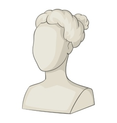 Sculpture head of woman icon cartoon style vector image