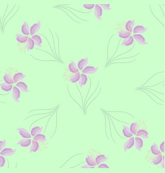 seamless texture pattern purple flowers vector image