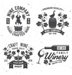 Set of winer company badge sign or label vector