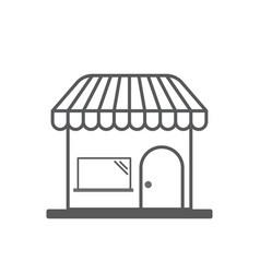 shop market line icon outline sign linear vector image