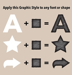 Sketch graphic style vector image
